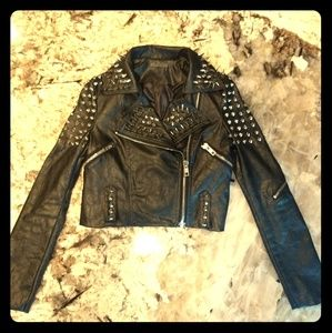 ♣️ True Blood studded Vegan Leather Jacket ♠️